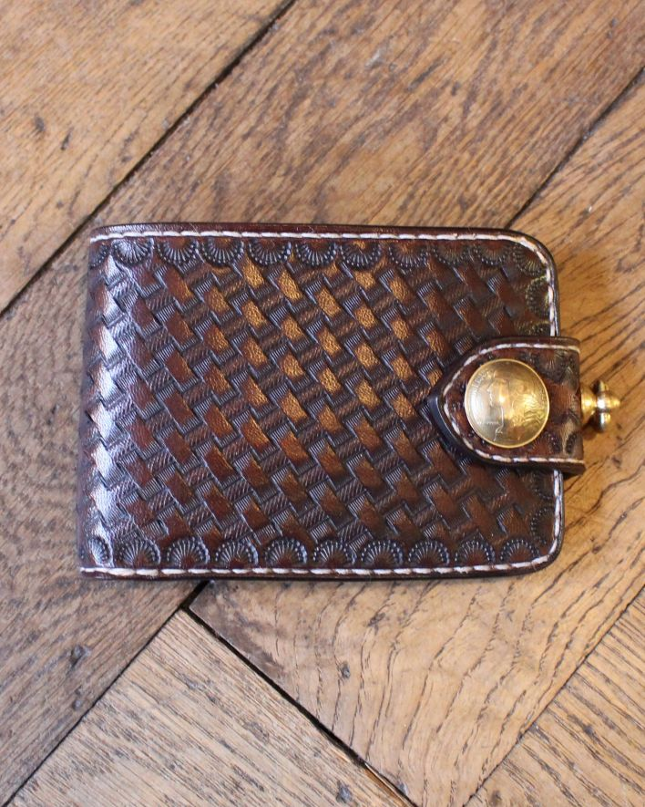 Red's Leather Wallet Citadin Basket Wave Pocket brown_1.1