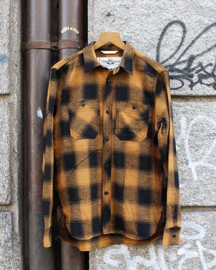 Rogue Territory BM Work Shirt gold plaid_1