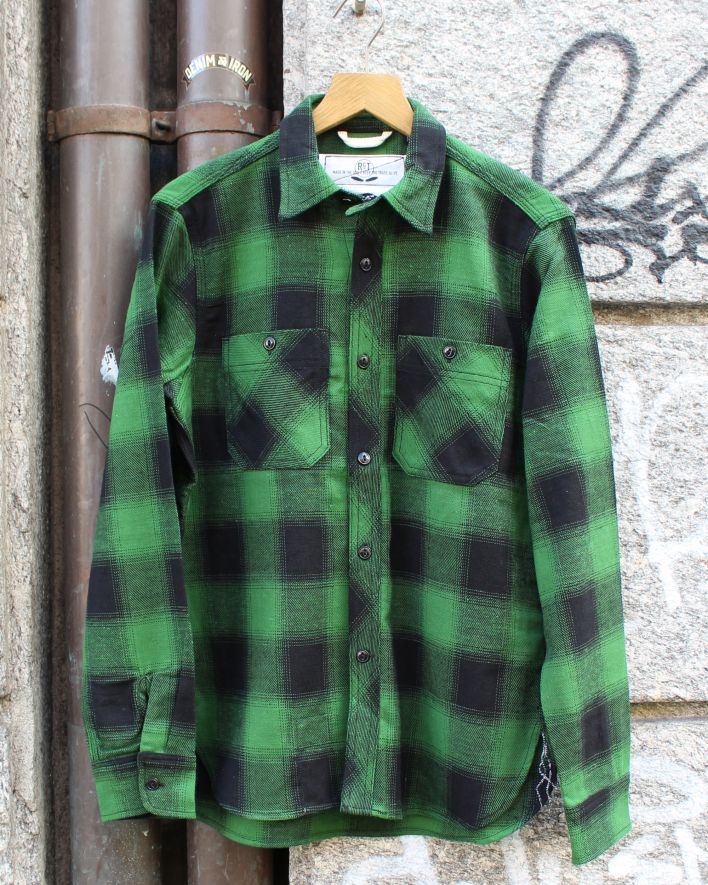 Rogue Territory BM Work Shirt green plaid_1