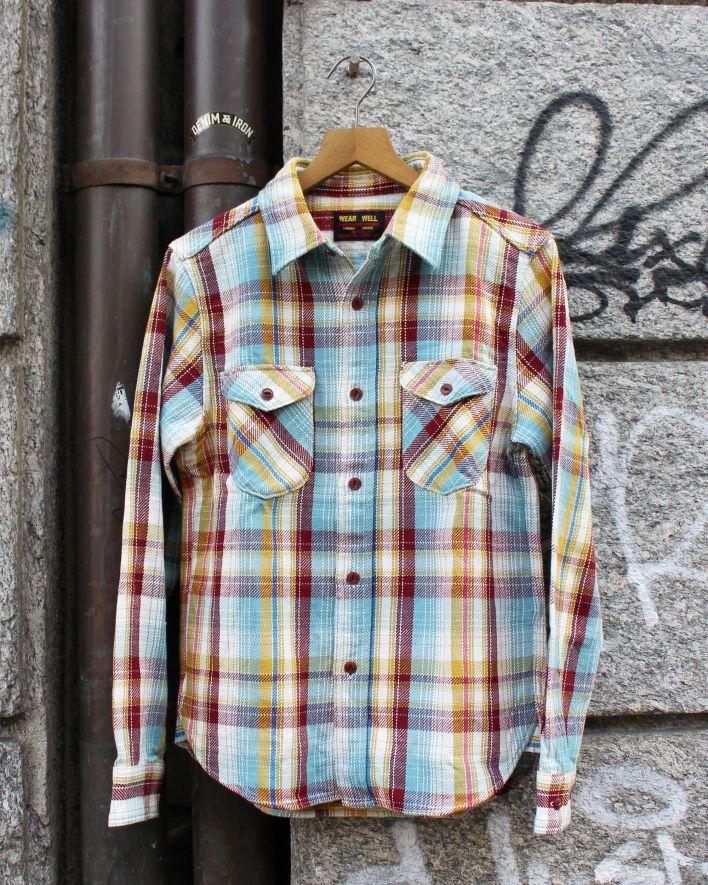 UES Heavy Flannel Shirt Hemd blau_1