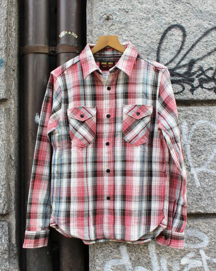UES Heavy Flannel Shirt Hemd pink_1