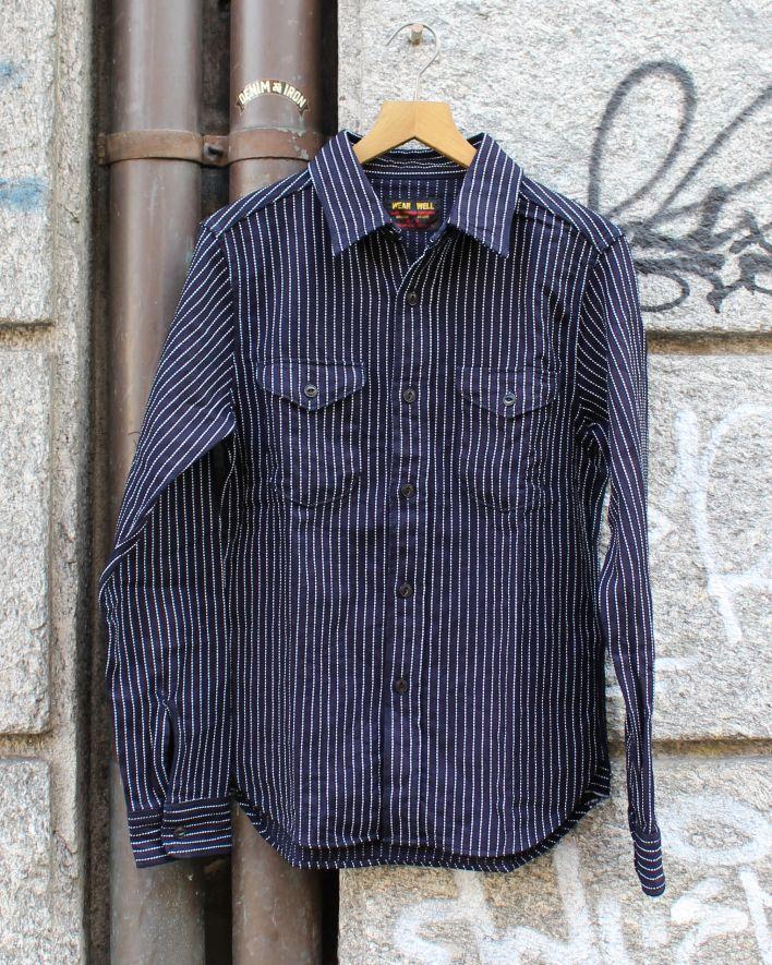 UES Stripe Flannel indigo_1.1