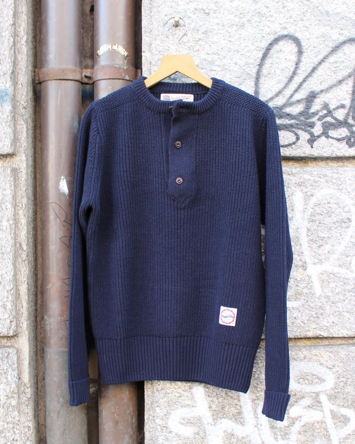 Eat Dust Zeus Strickpullover Wolle navy_1