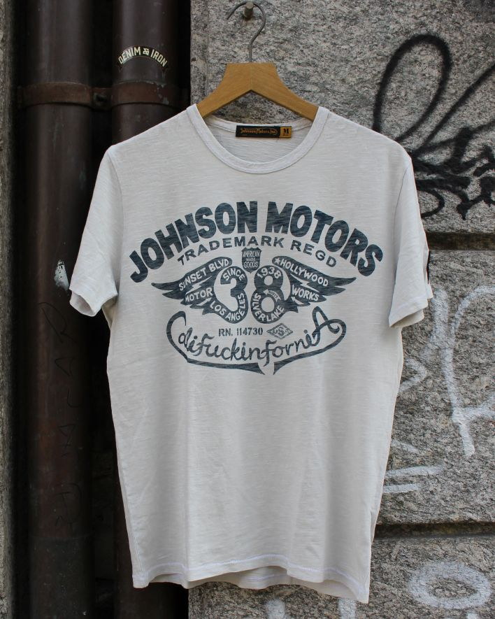 Johnson Motors Flying 38 T-Shirt white sand_1