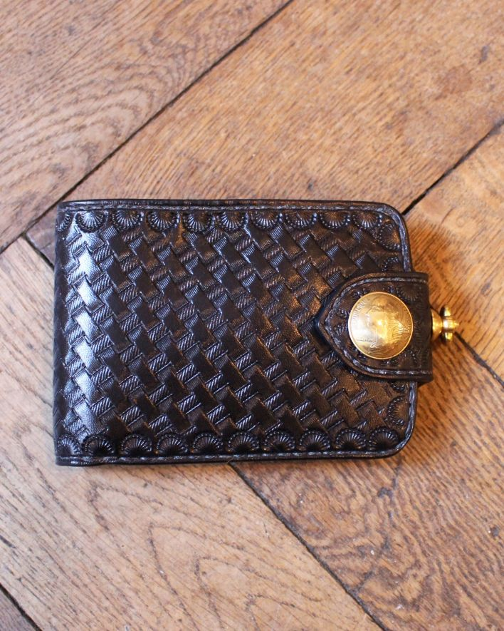 Red's Leather Wallet Citadin Basket Wave black_1