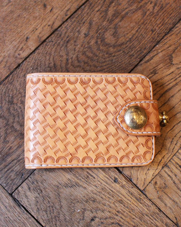 Red's Leather Wallet Citadin Basket Wave nature_1