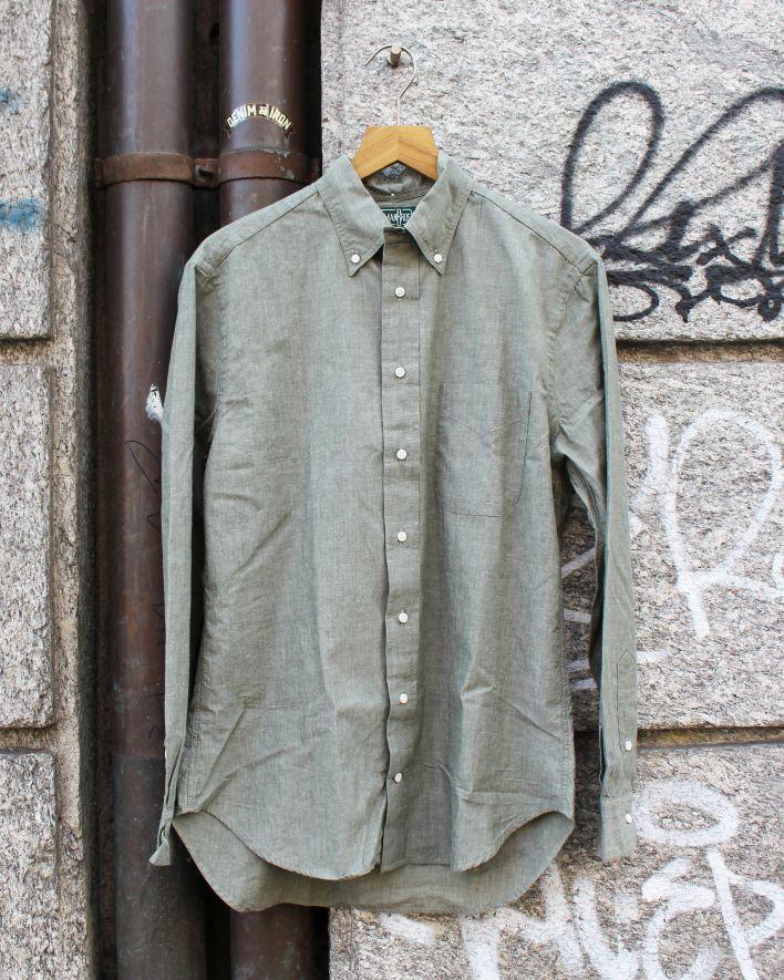 Gitman Vintage Japanese Chambray olive_1