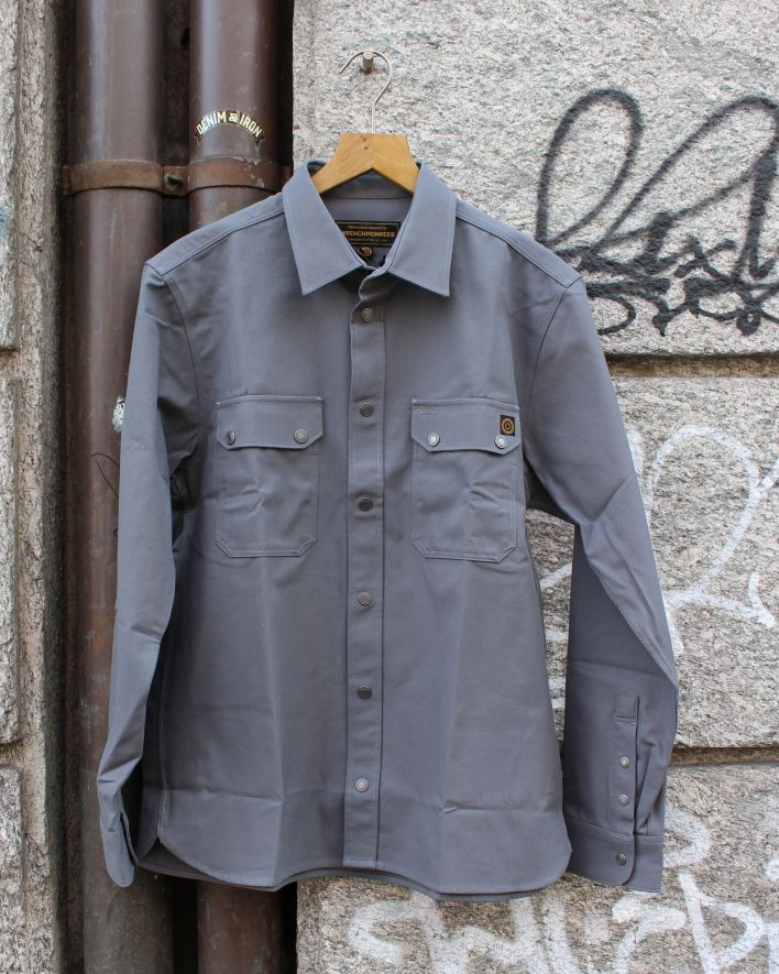 Wrenchmonkees Coated Twill Shirt 143 grau_1