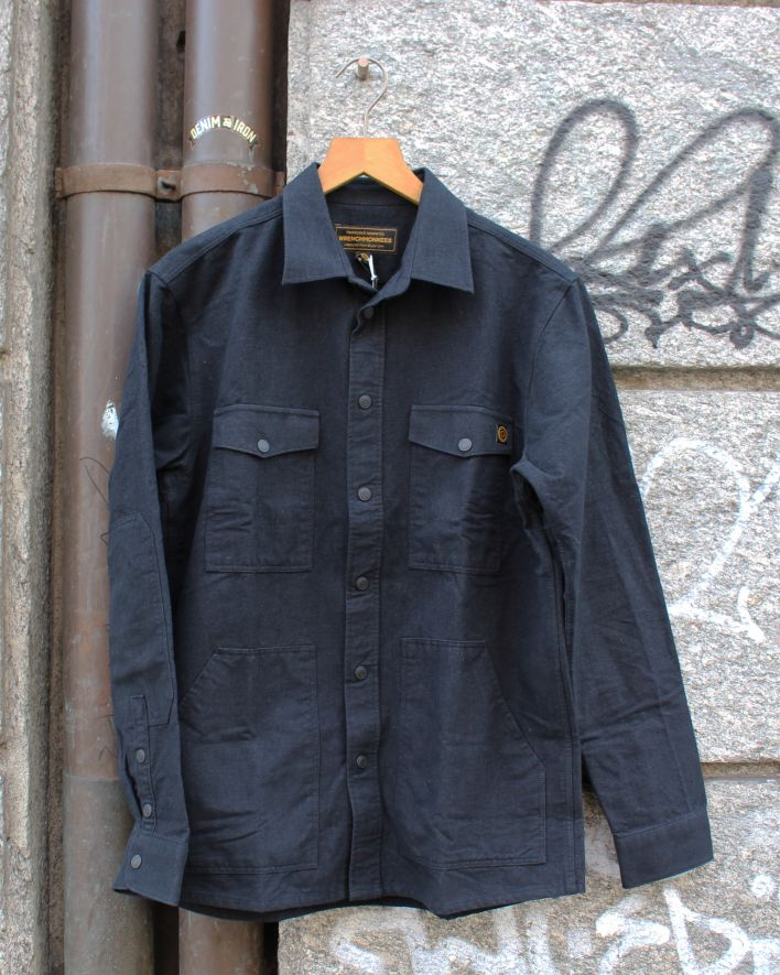Wrenchmonkees Moleskin Shirt schwarz_1