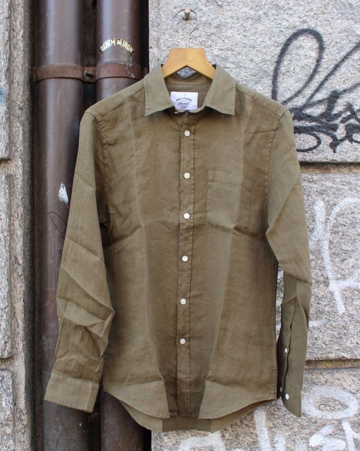 Portuguese Flannel Linen olive_1