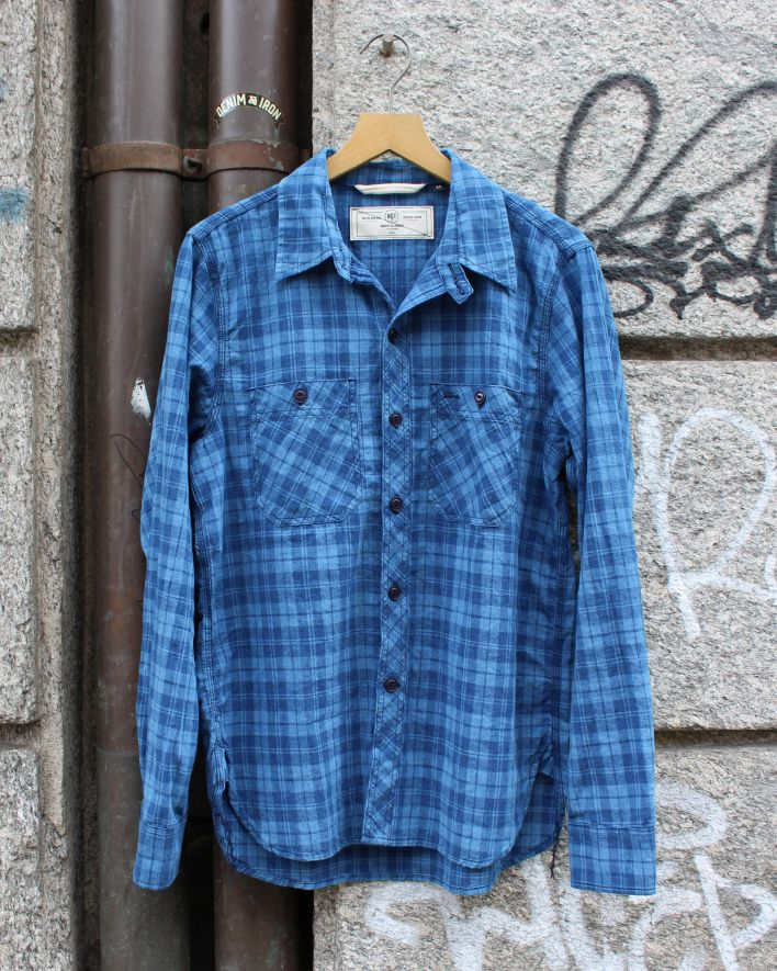 Rogue Territory BM Work Shirt Vintage Plaid indigo_1