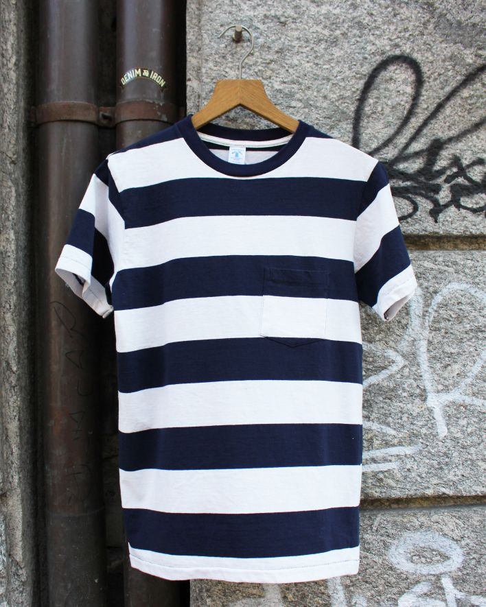 Velva Sheen White Border T-Shirt navy weiss gestreift_1