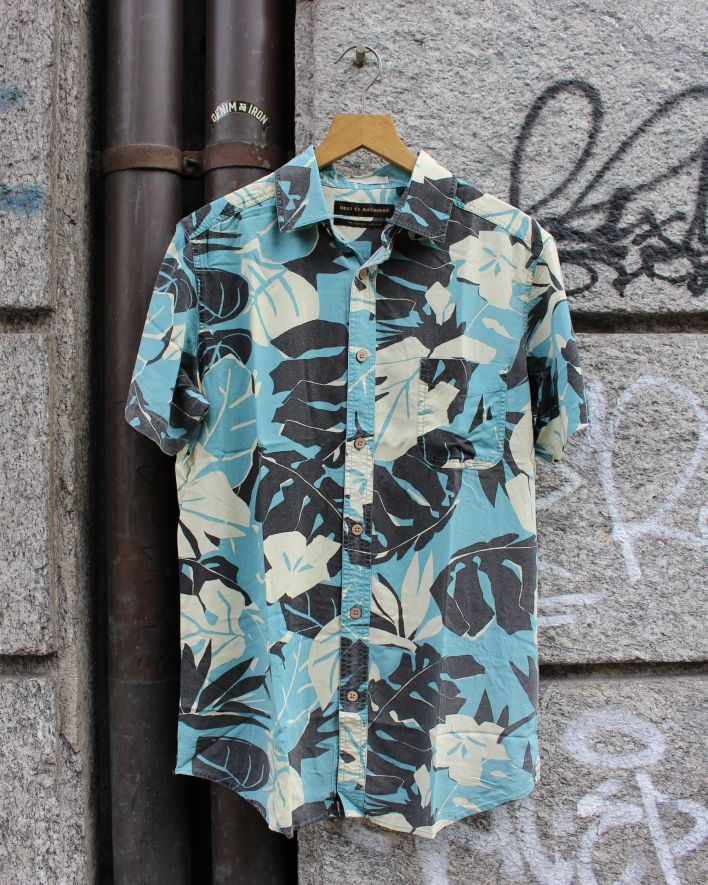 Deus Ralph Morning Shirt Kurzarm leaf floral_1