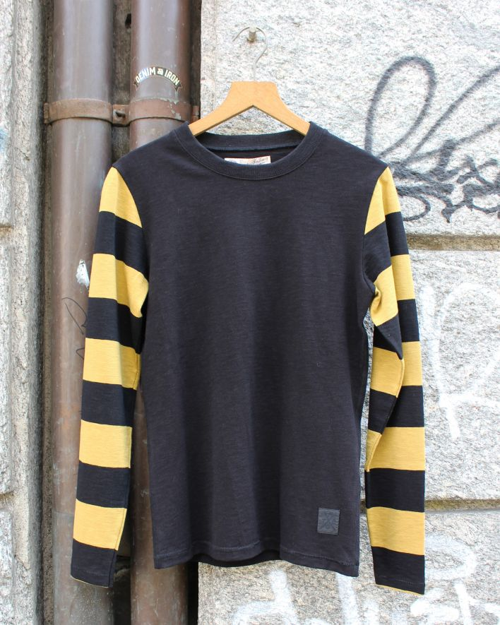 Eat Dust B Club Heavy Slub Jersey Longsleeve black yellow_1