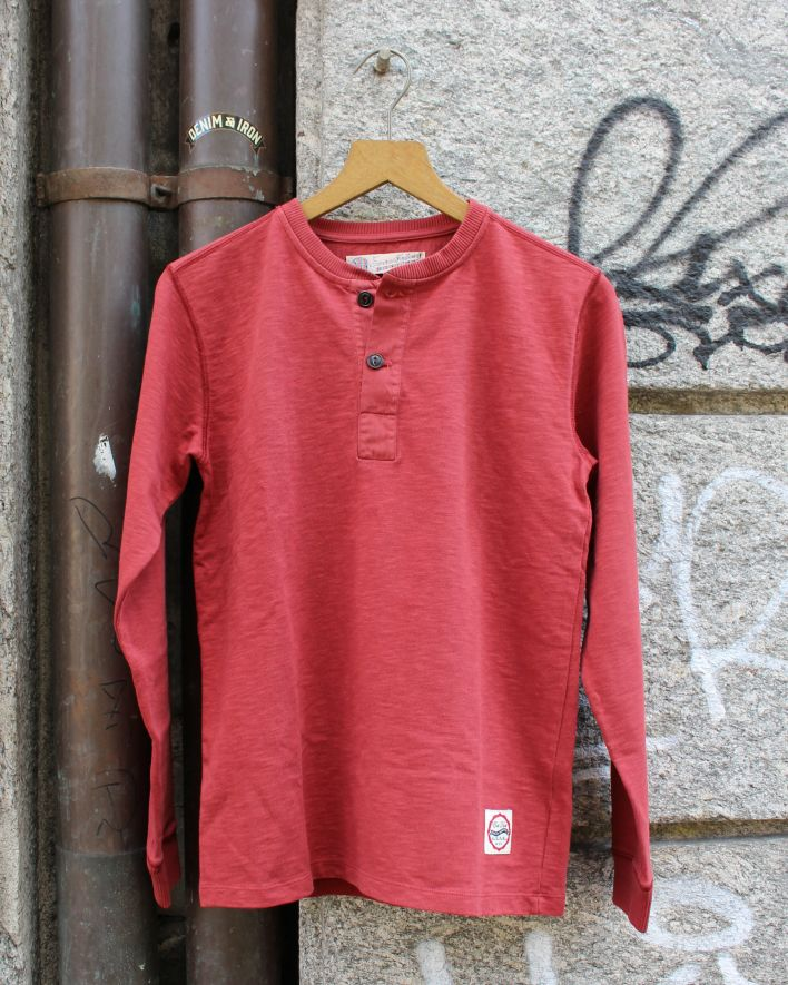 Eat Dust T-Henley Heavy Slub Jersey Longsleeve red orcher_1