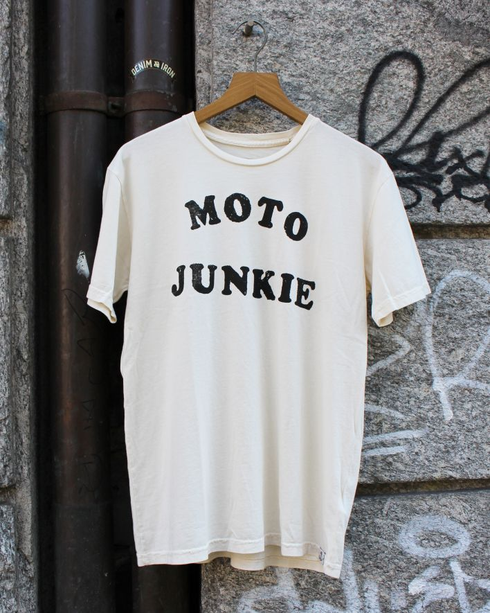 Iron and Resin Moto Junkie T-Shirt natural_1