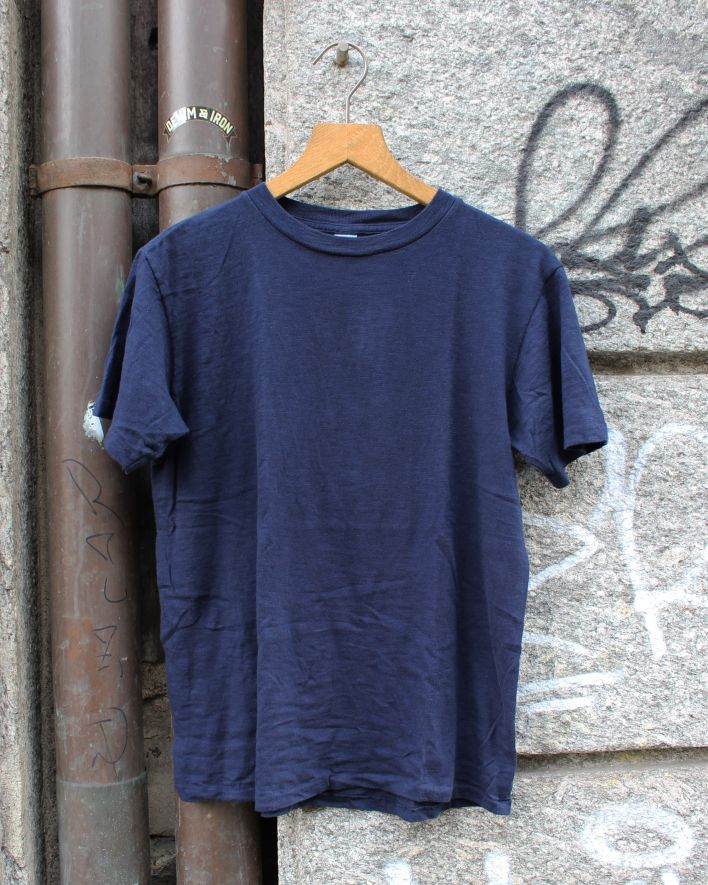 Velva Sheen Rolled T-Shirt navy_2