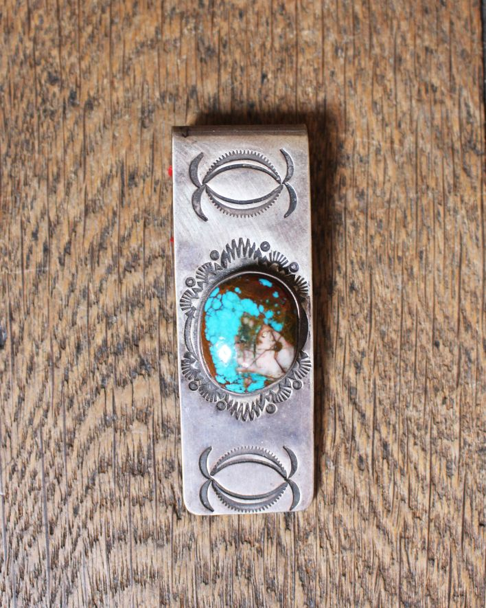 Red Rabbit Money Clip Turquoise silver_1.1