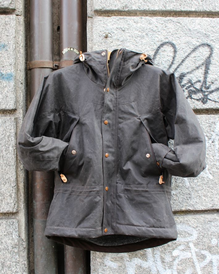 Cecarrelli Mountain Jacket waxed cotton chocolate_1
