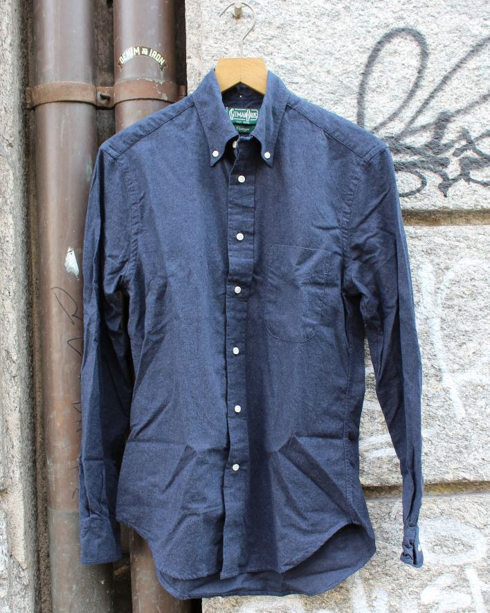 Gitman Vintage Flannel Hemd Baumwolle_navy_1