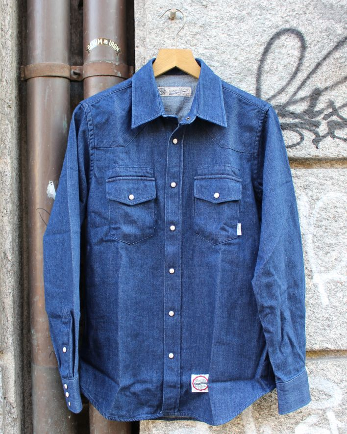 Eat Dust Western Denim Shirt Janis indigo blue_1