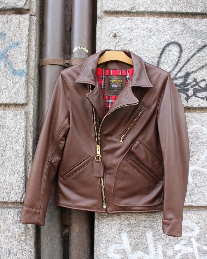 Vanson Arrow Leather Jacket chocolate_2