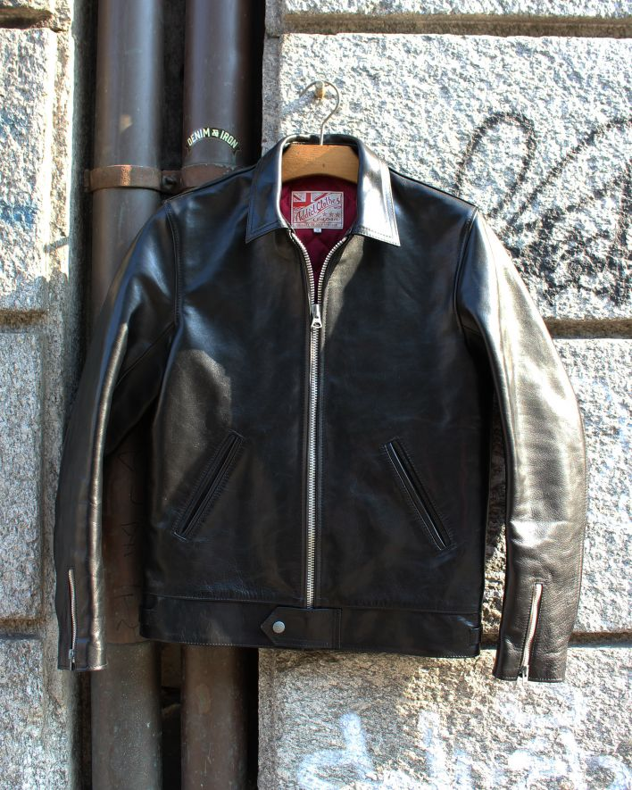 Addict AD-01 Center Zip Jacket Horsehide black_1