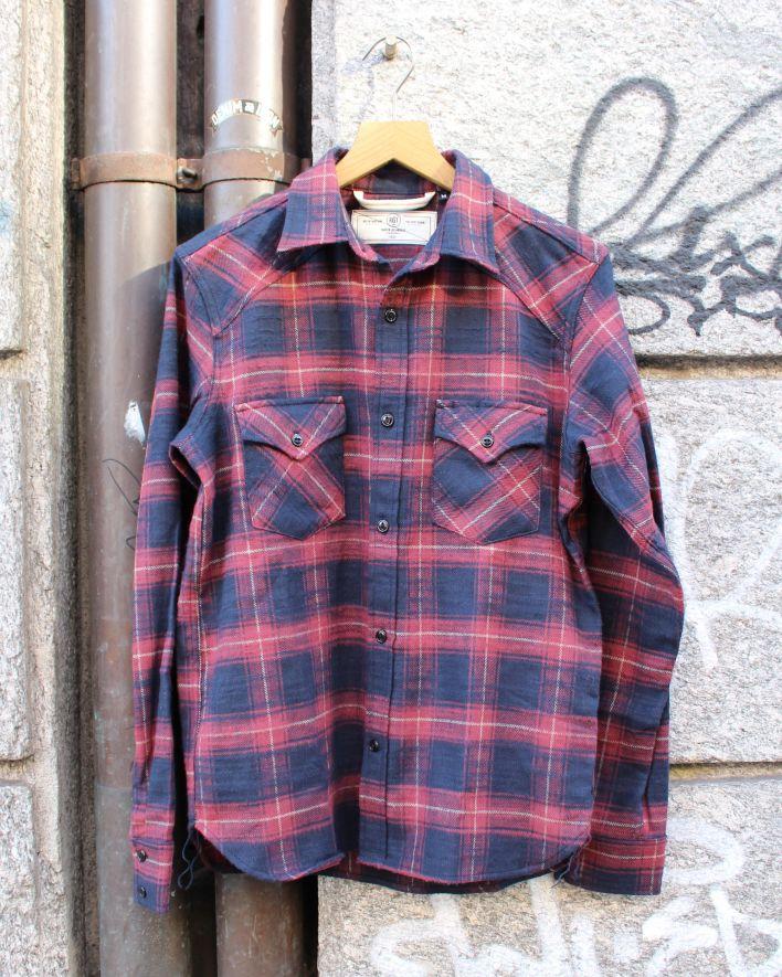 Rogue Territory Western Shirt plain maroon_1