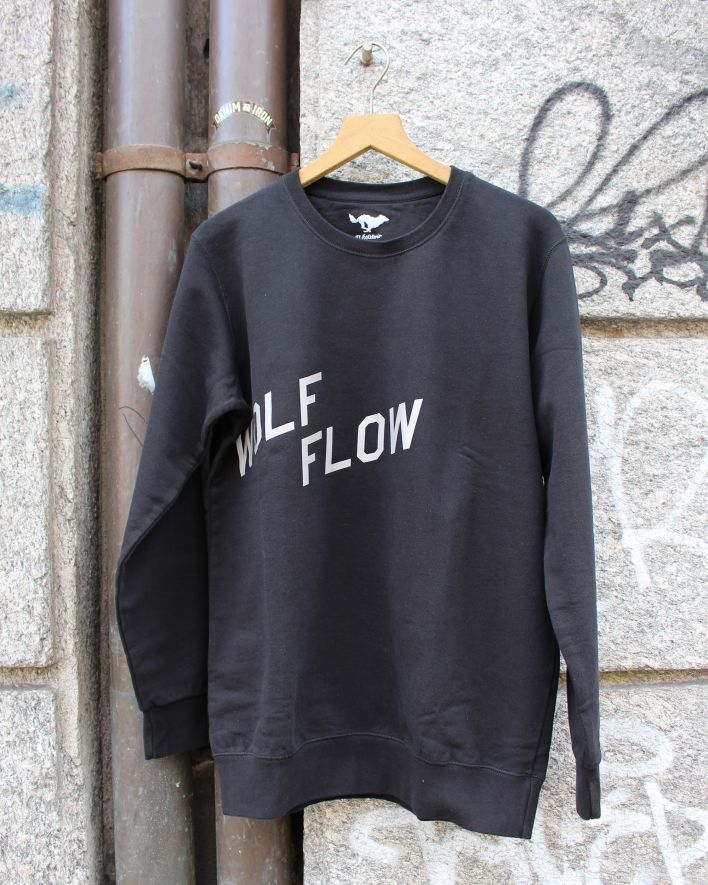 El Solitario Wolf Flow Sweatshirt black_1