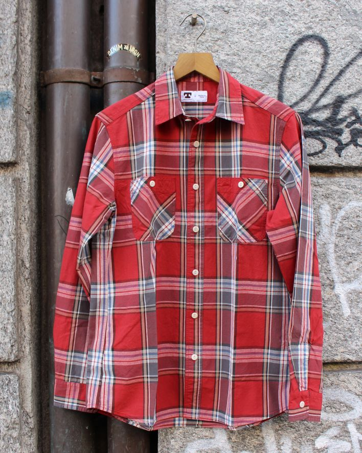 Tellason Utility Shirt red check_1