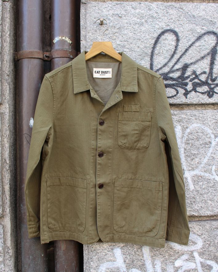 Eat Dust HBT Combat Blazer dark olive_1