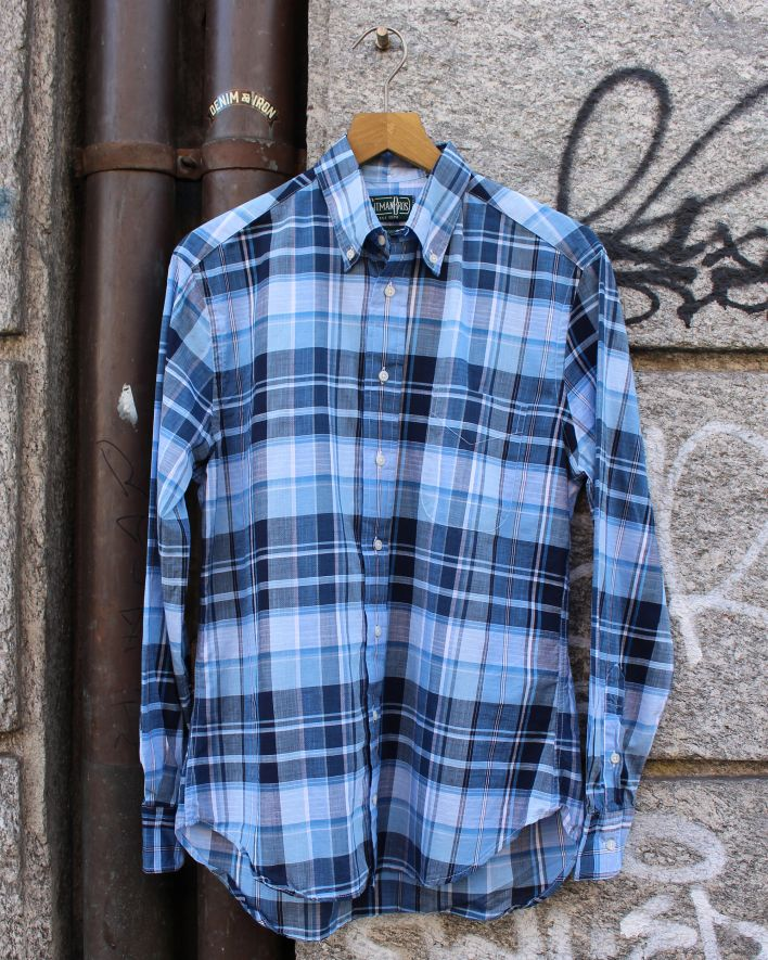 Gitman Vintage Archive Madras Shirt blue_1