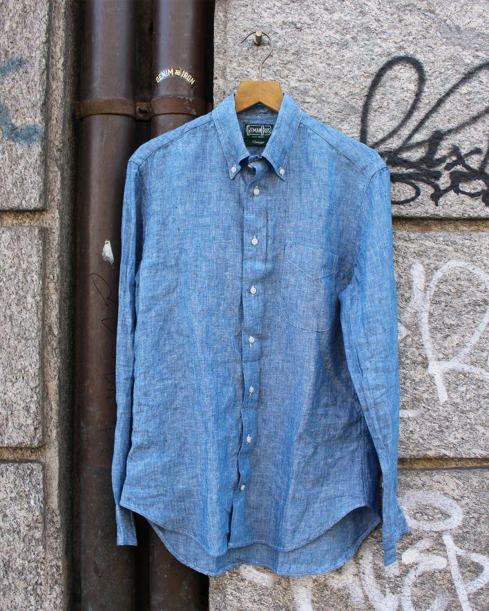 Gitman Vintage Chambray Linen Shirt blue_1