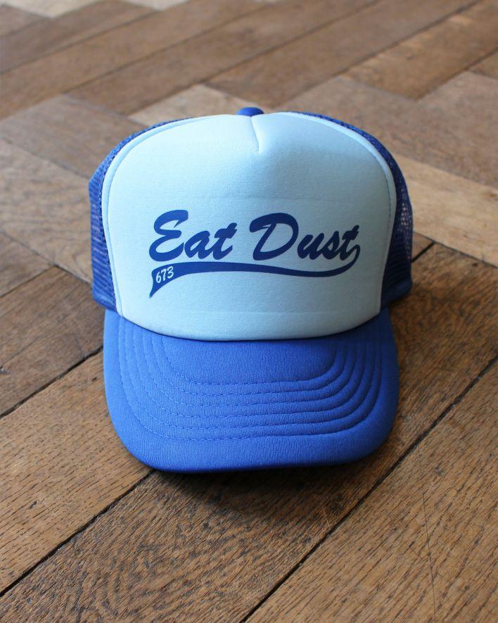 Eat Dust X Trucker Baseball Cap navy lightblue_1