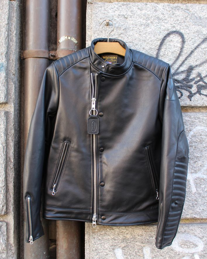 Vanson Portland Cafe Racer Jacket black_1