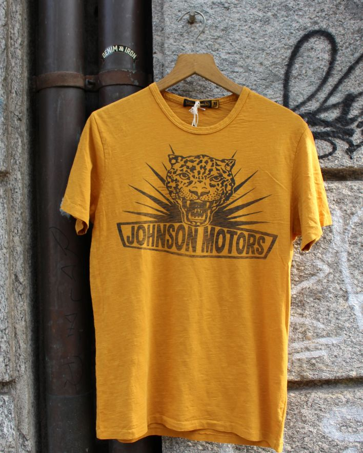 Johnson Motors Jomo Cat T-Shirt yellow sand_1