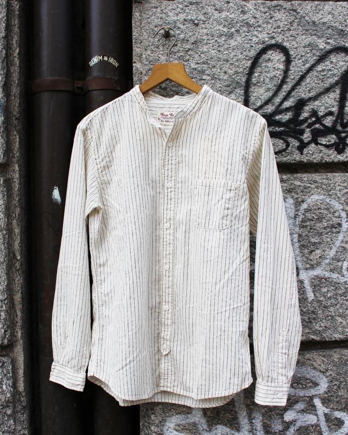 UES Band Collar Shirt offwhite_1