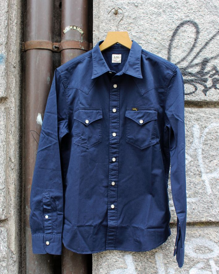 Lee 101 Western Shirt bright navy_1