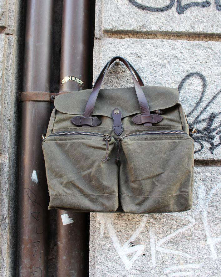 Filson 24-Hour Briefcase tin cloth otter green_1