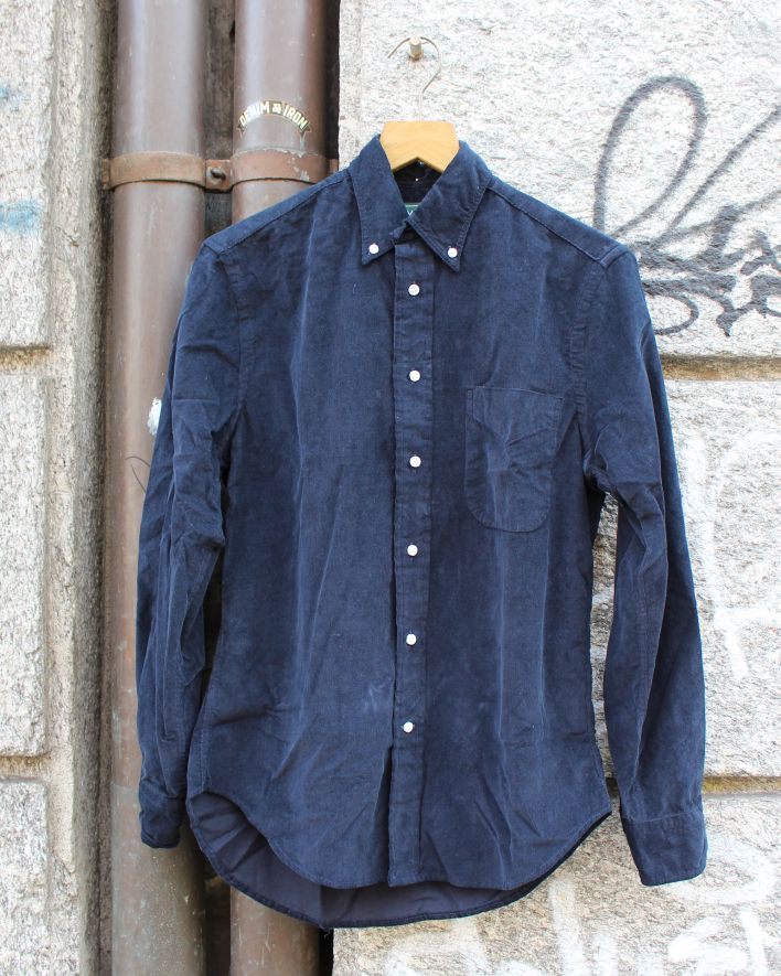 Gitman Vintage Corduroy Shirt navy_1