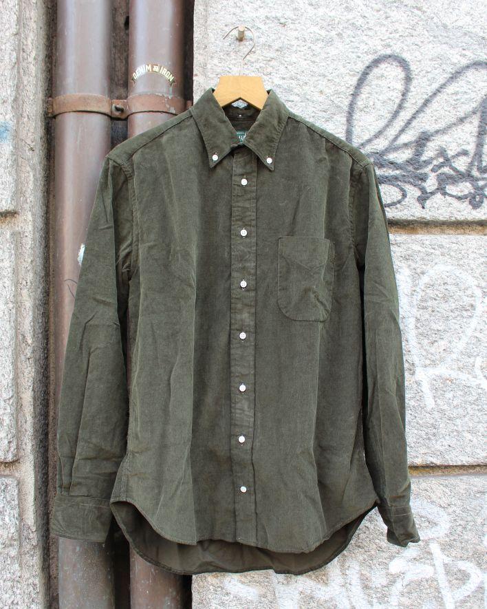 Gitman Vintage Corduroy Shirt olive_1
