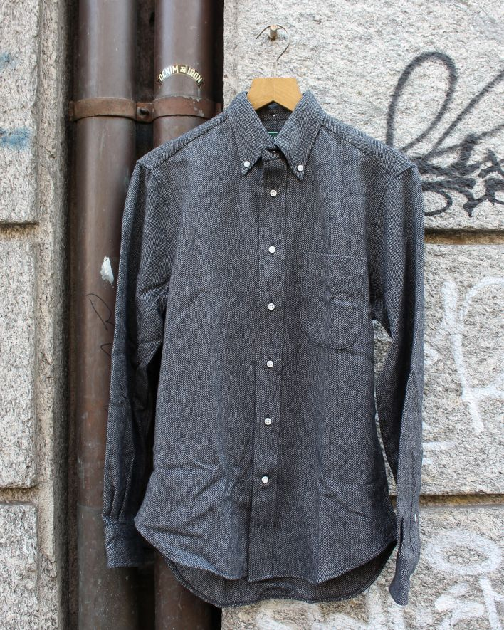 Gitman Vintage Cotton Tweed Shirt grey_1