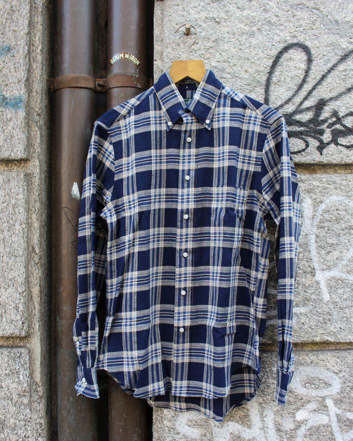 Gitman Vintage Nep Viyella Shirt navy_1