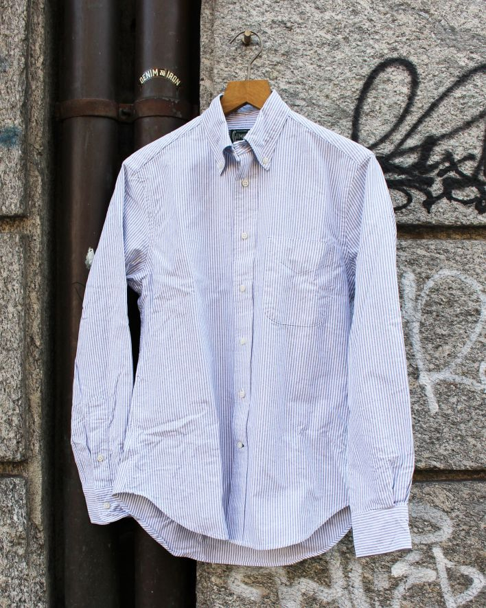 Gitman Vintage Stripe Oxford Shirt grey_1