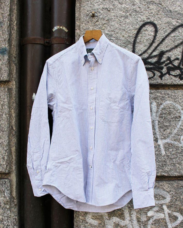 Gitman Vintage Stripe Oxford Shirt grey_1