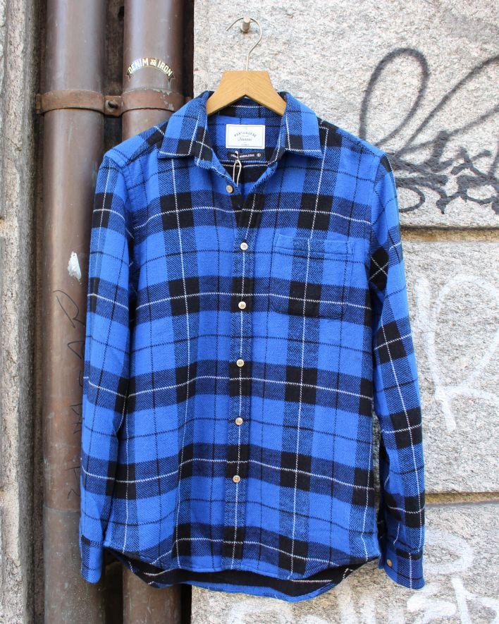 Portuguese Flannel Colorado Flannel Shirt blue black plaid_1