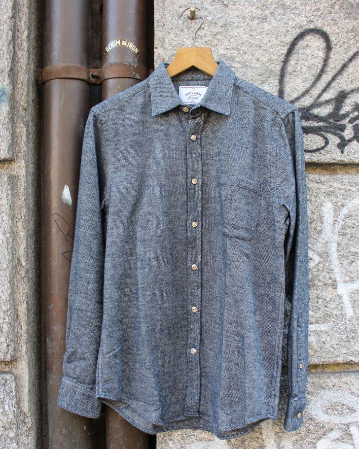 Portuguese Flannel Teca Flannel Shirt greyed blue_1