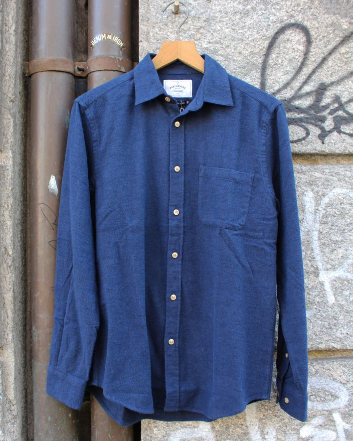 Portuguese Flannel Teca Flannel Shirt navy_1