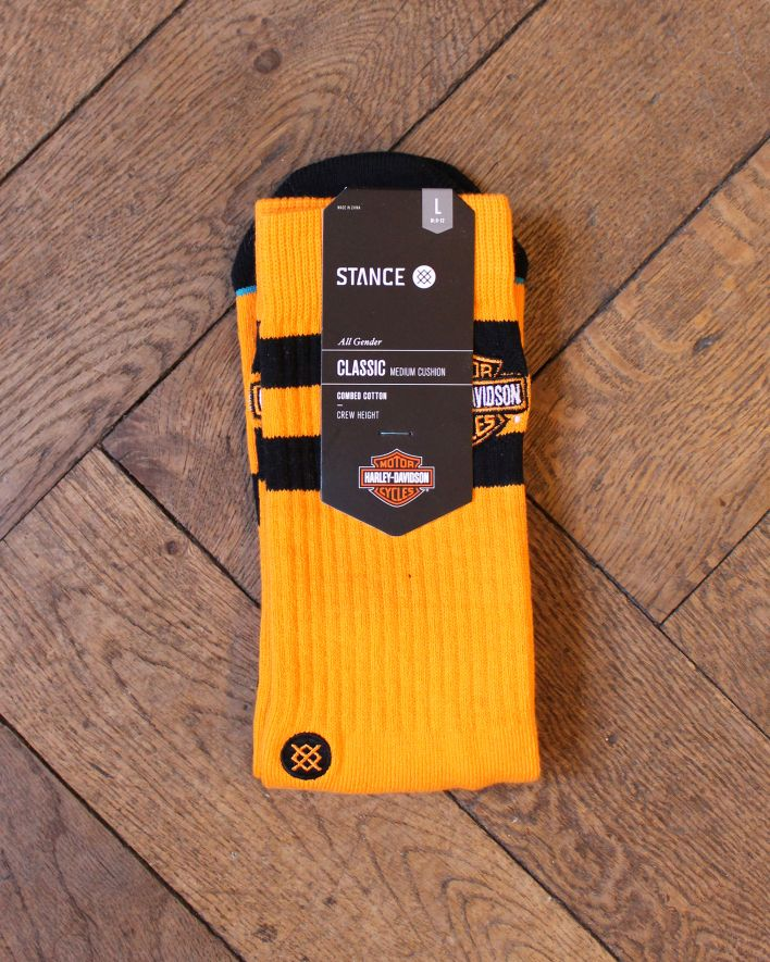 Stance Ride On Harley Davidson Socks orange_1