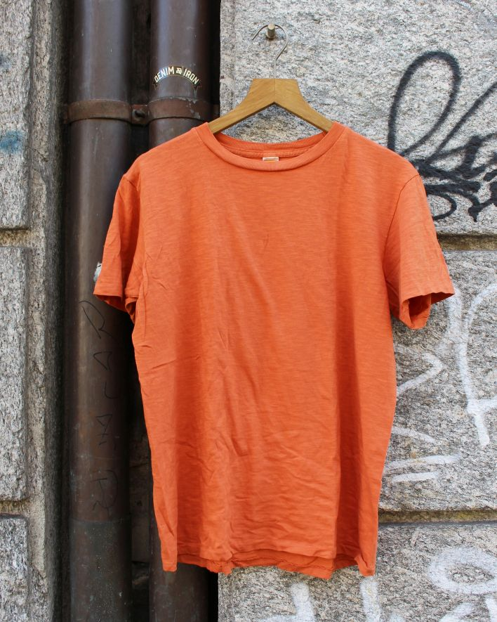 Velva Sheen Rolled Tee orange_1